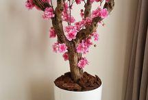 bloesemboom / Handgemaakte zijden bloesembomen