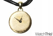 Watch This! Necklaces / Upckling necklaces. Once these watches meter out of time, can now adorn the neck.