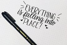Handlettering and quotes