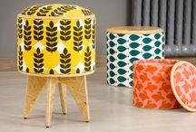 Chupitos - Asientos apilables / Puff de living que se apila para ahorrar espacio y usar como banqueta! Ideal para una mesa ratona se pueden adaptar también a una barra desayunador. Diseño + sustentabilidad