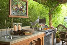 Summer Canning Kitchen / Get ideas for your own outdoor canning kitchen: stoves, sinks, counters and buildings!