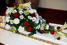 båredekorasjoner  / begravelsesblomster