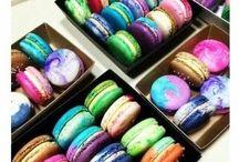 French Macarons / rainbow french macarons