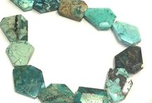 Stone Beads > Chrysocolla Beads / Natural Chrysocolla Beads in every shape, style and size.