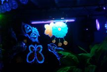 Mine decoration on party's / Blacklight decoration / Stringart / Laser / Party