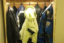 Snowmobile gear storage