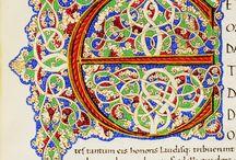 Alfabeto #lettering / Iniziali miniate e a stampa dai codici e libri della biblioteca malatestiana