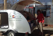 Basecamp / Our entry Teardrop weighing in at only 858 lbs dry weight can be towed by most cars! This compact trailer sleeps a queen size platform and a fully customizable kitchen. It will get you to all your national and state parks in style and comfort