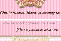 Carnival Theme Baby Girl Invitations