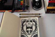 Little Black Book. / Everyone has one right? Here's a peek inside my Moleskine. :O