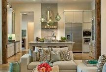 open plan living &kitchen
