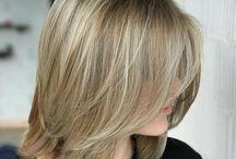 fine hair haircuts & color