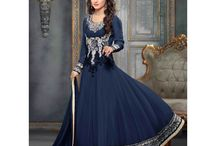 Hina Khan Anarkali Salwar Suits / Top:- 60 Gram Bottom:- Shantton Inner:- Shantton Dupatta:- Nazneen Size:- Up to 42 chest size Occison:- Party wear Work:- Pure embrodairy  Wash:- Dry Clean  Shipping Time:- Ready to ship Weight:- 1 kg