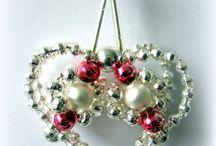 Christmas - retro vánoční ozdoby ze skla / vyrábím vánoční ozdoby z foukaných perel a skleněných tyček