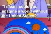 Simpsons / Great show including yellow things to critize everything.