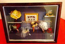 Modiste Millinery Cinema Sculptures Jewelery / Créations en vente  N'hésitez pas à nous contacter