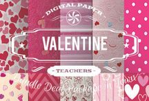 VALENTINE PAPERS / DIGITAL PAPERS - VALENTINE PAPERS  BY DIGITAL PAPER SHOP