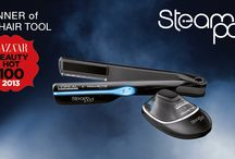 Hair Straightening - Steampod / For a smooth look & mirror-like shine, discover Steampod from L'Oréal Professionnel. This unique tool continous steam pressure, combined with its anodized, ceramic plates, straightens and smooths the look of hair leaving it feeling smooth and glossy