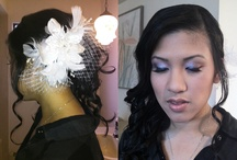 Curls to the Side Hairstyle / tight curls, wavy hair, updo's, to the side, volume, and teased hairstyles  all hair done by www.candice-style.com