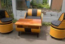 Upcycled Oil Drum Project / Menyulap barang bekas menjadi sesuatu yang bermanfaat dan dikreasikan menjadi furnitur rumah yang keren. Siapa sangka barang-barang rongsokan yang ada disekitar kamu ternayata bisa menjadi furniture bernilai seni tinggi seperti drum bekas minyak ini!
