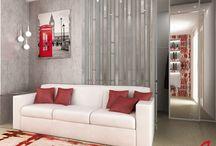 Residenza privata LB / Due diverse soluzioni di arredo del soggiorno