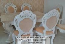 Set Kursi Makan Ukir ( Carving Dining Room Furniture )