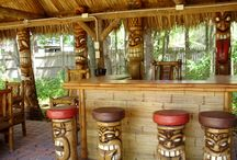 Tiki Bar Area Ideas / by Kim Boyette