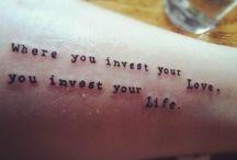 Tattoos<333 / by Hailey Johnnie