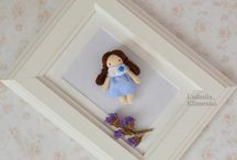 mini dolls / маленькие куклы- броши.mini doll