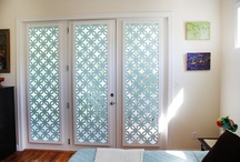 patterned glass doors