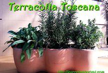 Coprivaso Terracotta Toscana / Vendita Online Coprivaso Terracotta Toscana con 3 Piantine di Erbe Aromatiche a scelta. Spedizione Gratuita da € 50,00.