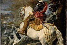 Портрет  Мужчина и лошадь