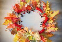 Autumn wreaths (The Paper Heart) / Autumn wreaths, Fall wreaths, Thanksgiving wreaths and decoration - such an inspiring season! ♥