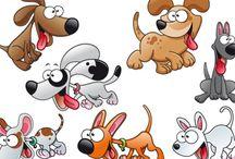 Dogs illustrations