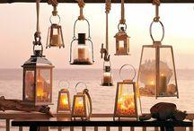 Holzleiter Lampen