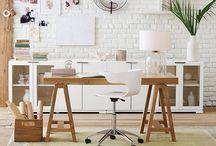 Sunroom + Office Ideas / inspiration for our sunroom / temp home office