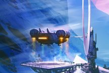 No Man's Sky / Various screens and concept art of Hello Games procedurally-generated limitless chill SciFi game