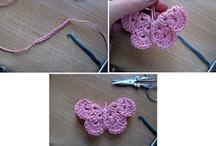 Ręczne robótki / Różne wzory serwetek na szydełku, bluzeczek ażurowych