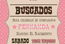cumpleaños cowgirl