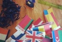 World flag cakes
