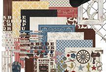 Scrapbook - Ride 'em Cowboy / Digital products & layouts for Ride 'em Cowboy