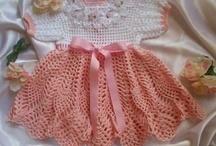 crochet;babby dresses