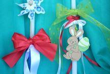 Πασχαλινές λαμπάδες Easter candles /  handmade