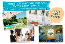 Win a Trip to Italy / Enter now to WIN an all inclusive Culinary Getaway to Italy with jovial Foods.