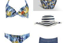 Letnie stylizacje / Kostiumy kąpielowe, dodatki plażowe, pareo, tuniki,kapelusze.
