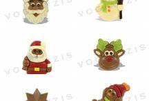 Χριστουγεννιάτικες Σοκολατένιες Φιγούρες