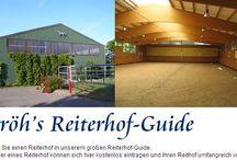 Reitställe und Reitanlagen / Fotos und Informationen zu Reitanlagen, Reiterhöfen und Ställen machen sich hier besonders gut.  https://www.stroeh.de/reiterhoefe/