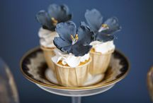 Blue and gold high tea