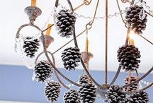 Holiday Lighting Decor / The lights are up, stockings are hung, and tree is trimmed.  But did you remember your chandelier?  Check out this collection of festive lighting decor for inspiration!