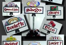 Las Vegas Casino Gambling Party Decor / Fun signs and centerpieces for a themed party around gambling games and casino locations. Shipped nationwide.